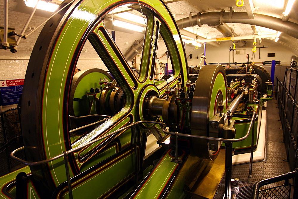 Engines beneath Tower Bridge, London, England, United Kingdom, Europe - 166-5425