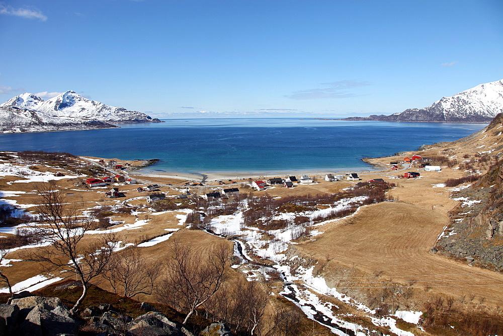 Beach at Grotfjord, Kvaloya (Whale Island), Troms, Norway, Scandinavia, Europe - 166-5436