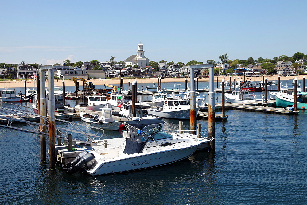 Local boat marina, Provincetown, Cape Cod, Massechusetts, United States of America, North America - 166-5467