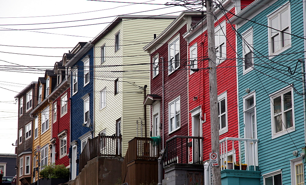 Old houses, St. John's, Newfoundland, Canada, North America