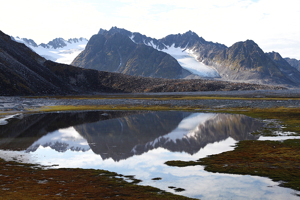 Mountains and reflections at Magdelenefjord, Svalbard - 166-5474