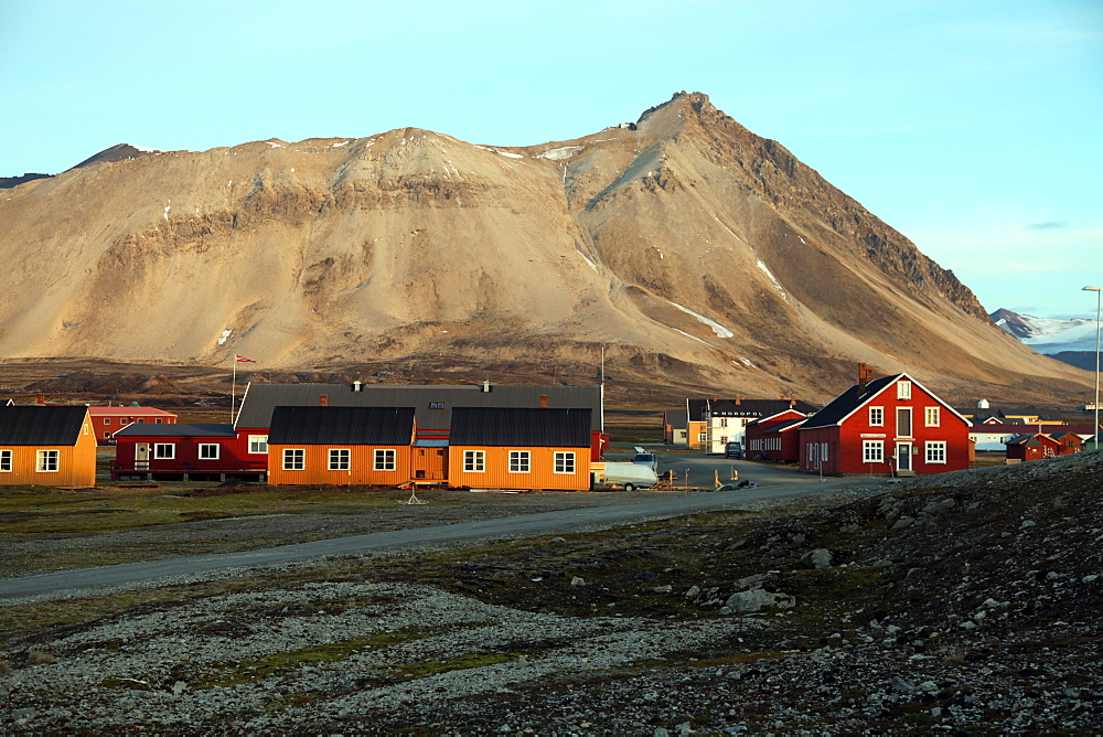 Ny Alesund, the most northerly settlement in the world, a base for international scientists, Svalbard, Norway, Scandinavia, Europe - 166-5475