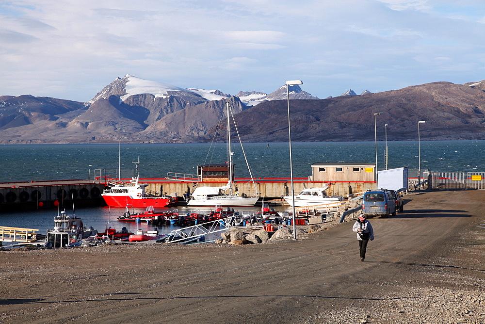 Harbour at Ny Alesund, Svalbard, Norway, Scandinavia, Europe - 166-5477