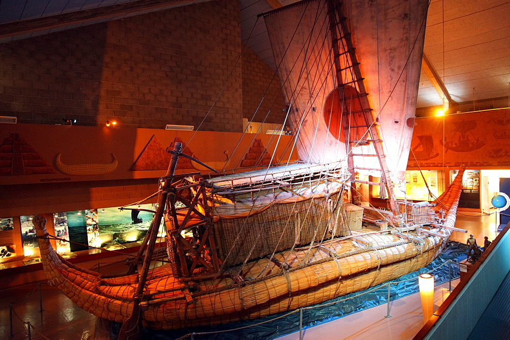 Ra, the reed raft built by Thor Heyerdahl, Maritime Museum in Oslo, Norway, Scandinavia, Europe
