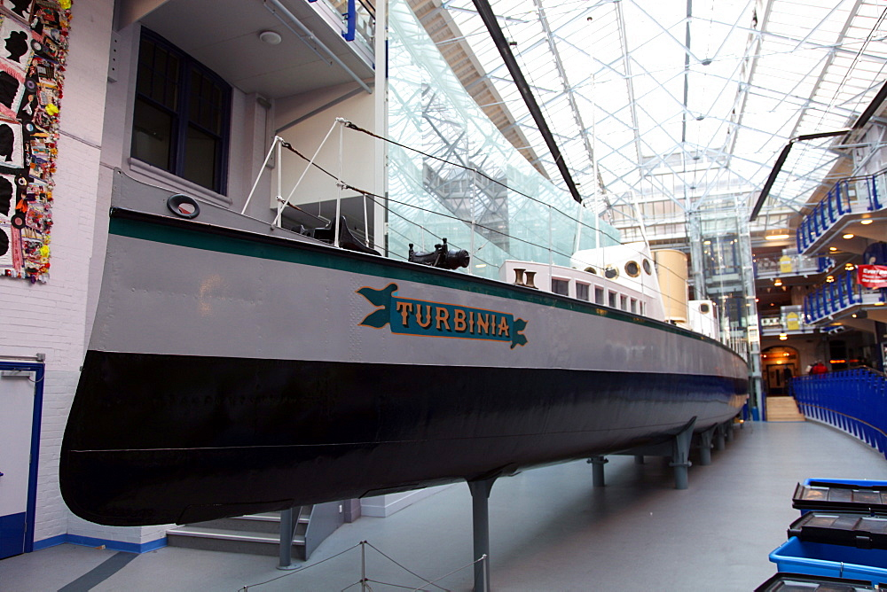 Turbinia, fastest ship in the world in the 1890's, Museum of Discovery, Newcastle upon Tyne, Tyne and Wear, England, United Kingdom, Europe