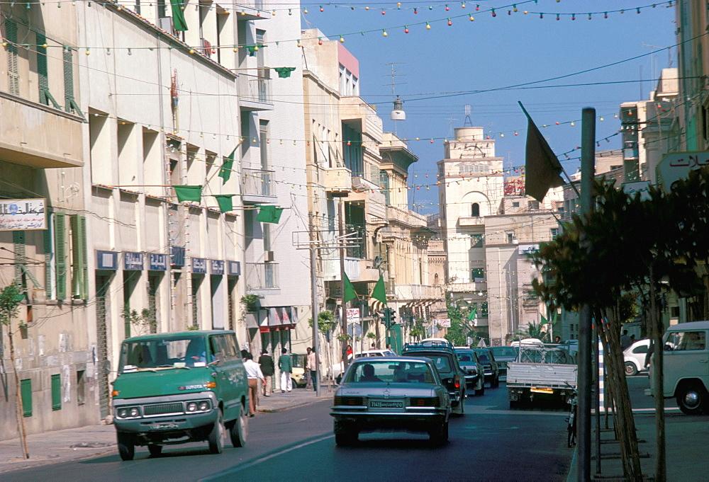 Street scene, Tripoli, Libya, North Africa, Africa