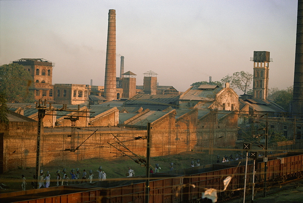 Cotton mills in Ahmedabad, the Manchester of the East, Gujarat, India, Asia