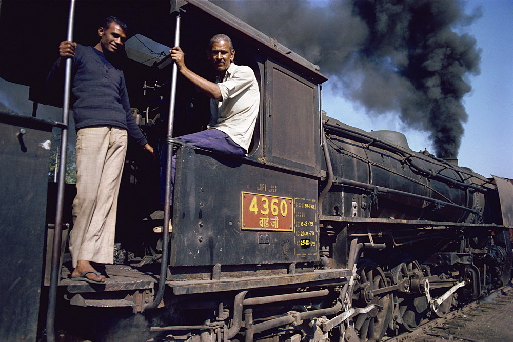 Steam locomotive, India, Asia