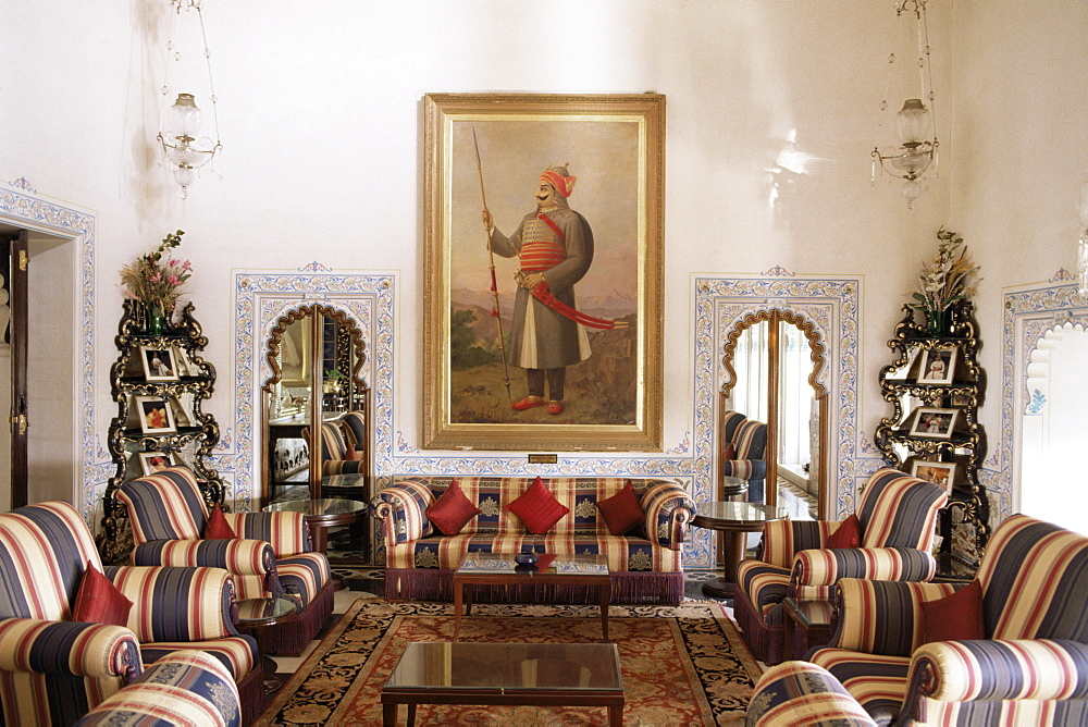 The Shiv Niwas Palace Hotel, Udaipur, Rajasthan state, India, Asia