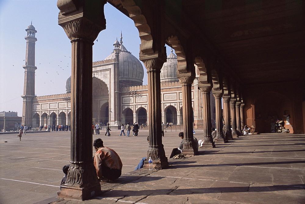 The Jama Masjid (Friday Mosque), Old Delhi, Delhi, India, Asia