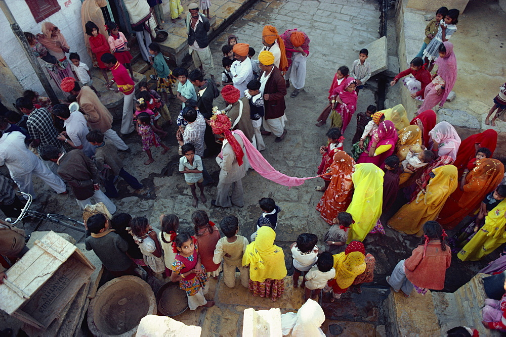 Marriage procession, Jaisalmer, Rajasthan state, India, Asia
