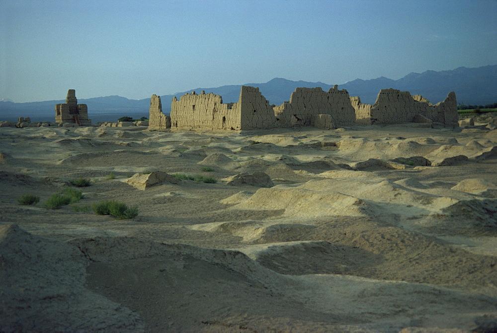 Ancient city on Silk Road, Jinohe, Turfan Depression, Xinjiang Province, China, Asia - 188-2177