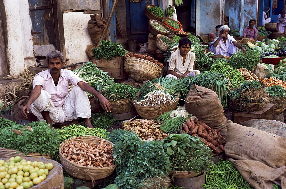 Vegetables for sale, Ahmedabad, Gujarat state, India, Asia
