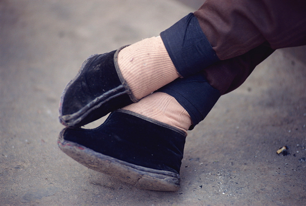 Bound feet, Lanzhou, China, Asia - 188-4895
