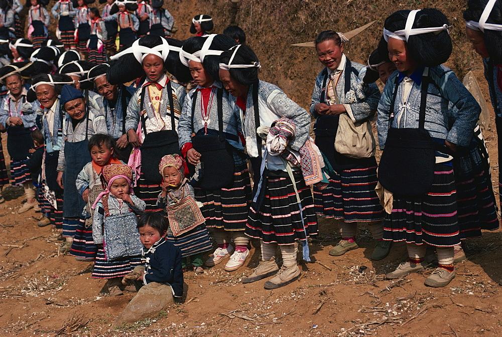 Long Horned Miao at Lusheng Festeival, eastern Guizhou, Guizhou, China, Asia - 188-5208