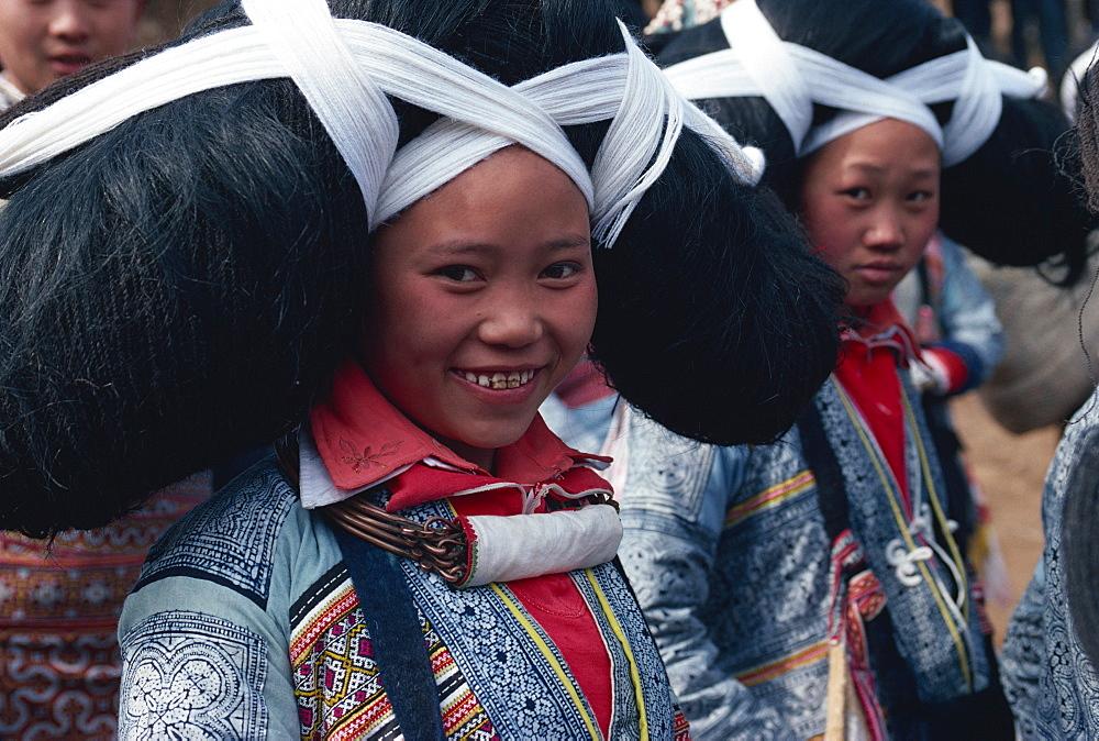 Long horned Miao at Lusheng Festival, eastern Guizhou, China, Asia - 188-5230