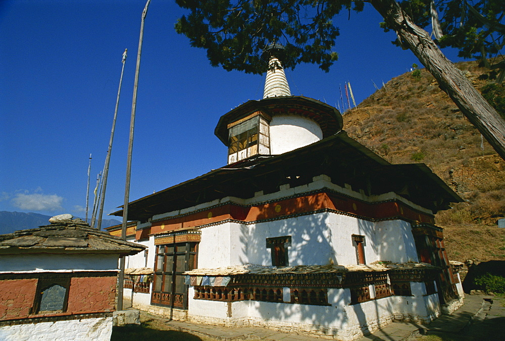Dungtse temple, Paro, Bhutan, Asia - 188-6012