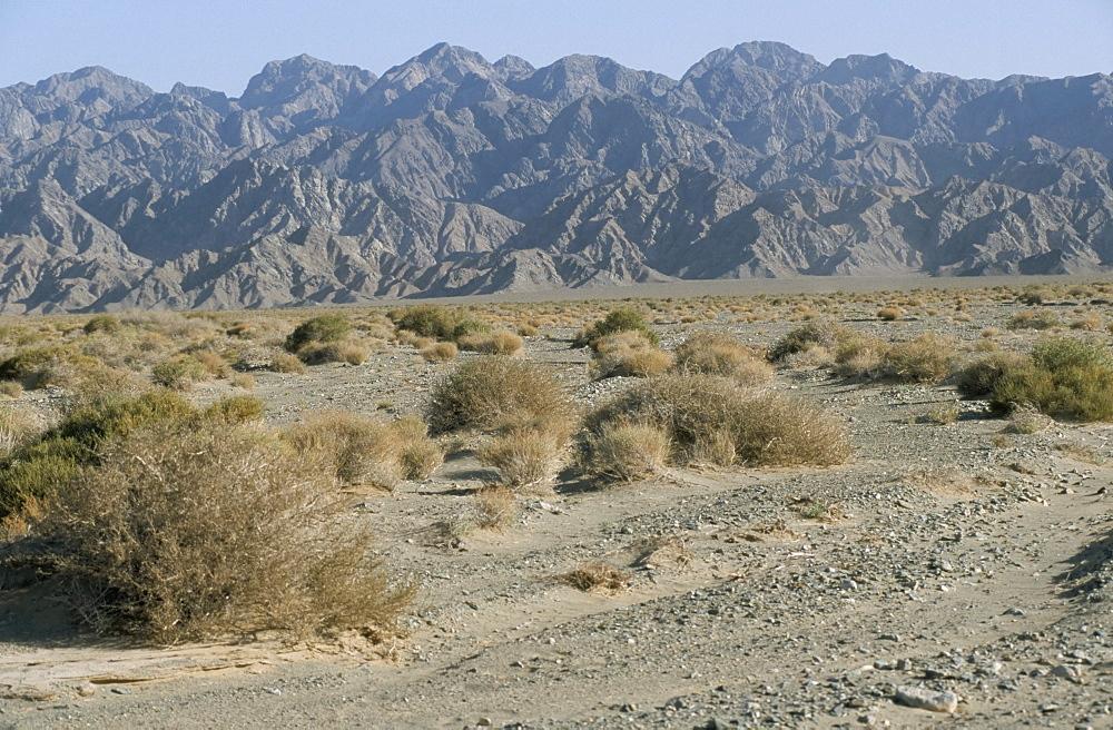 Southeast area of the Taklamakan desert, Xinjiang, China, Asia