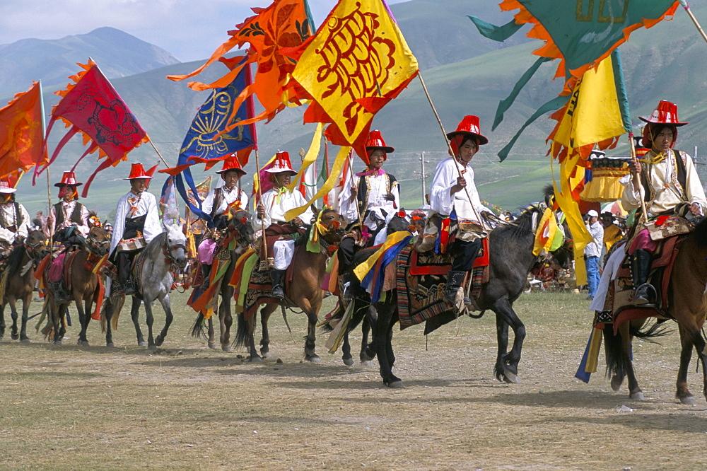 Opening parade, Yushu Horse Festival, Qinghai Province, China, Asia - 188-6863