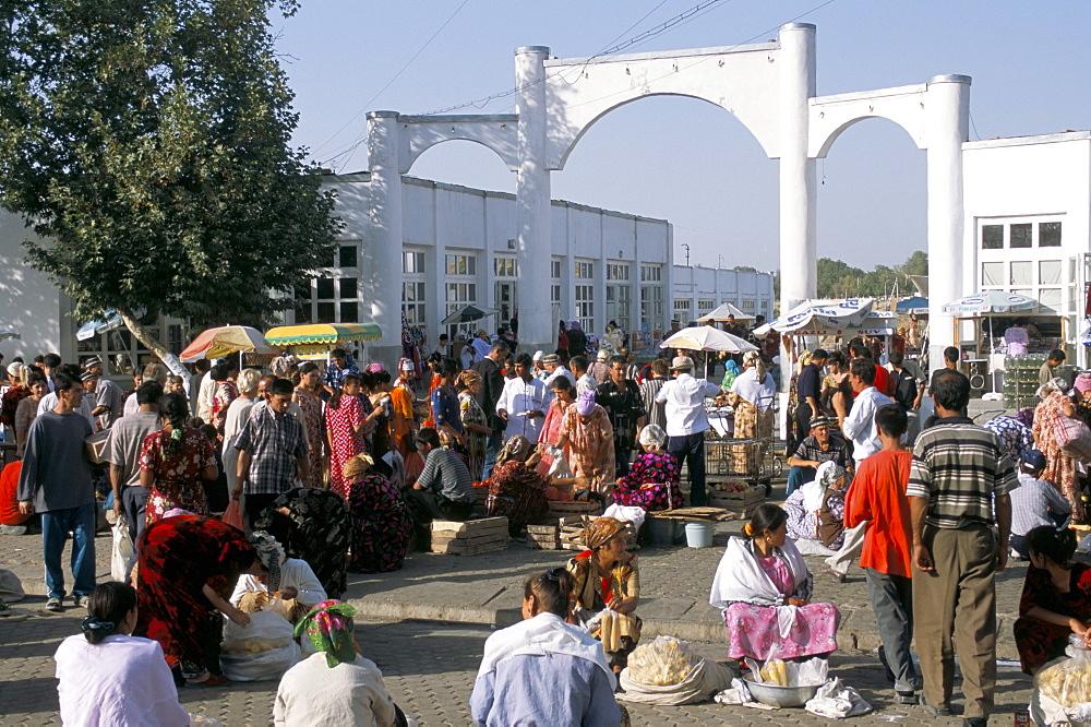 Central market, Samarkand, Uzbekistan, Central Asia, Asia