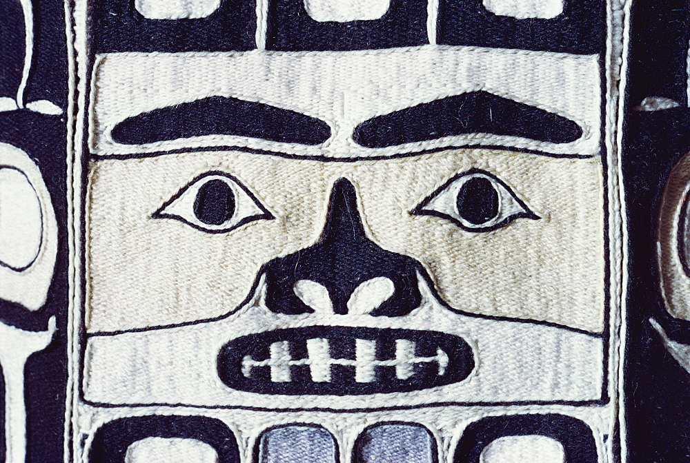 Detail of Chilkat shirt, Tlingit from North West Pacific, exhibited in Portland Museum, Portland, Oregon, United States of America, North America - 190-1028
