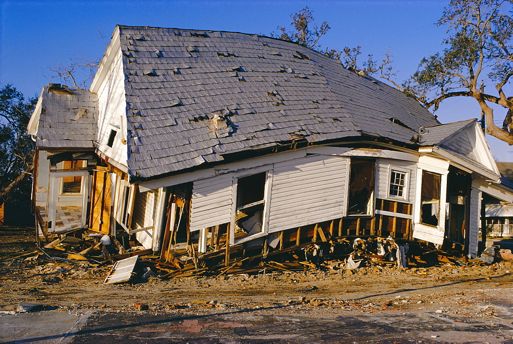 Hurricane damage, Louisiana, USA