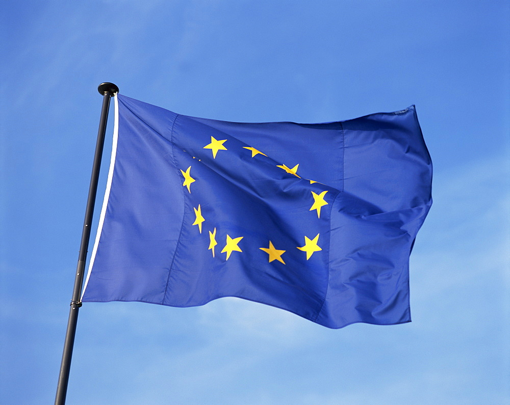 Close-up of the European Union flag