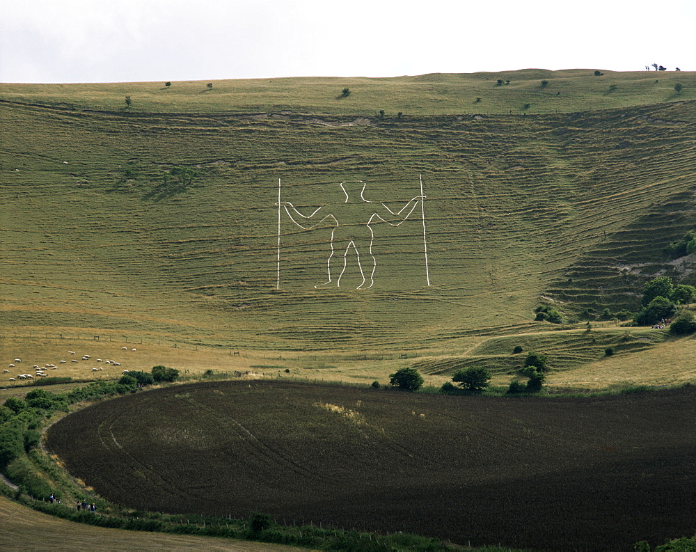 The Long Man, Wilmington, East Sussex, England, United Kingdom, Europe