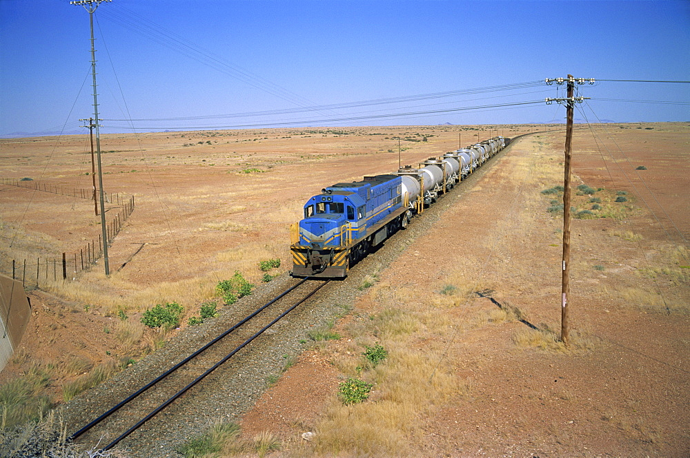 Freight train, part of important rail infrastructure, Namibia, Africa - 197-2396