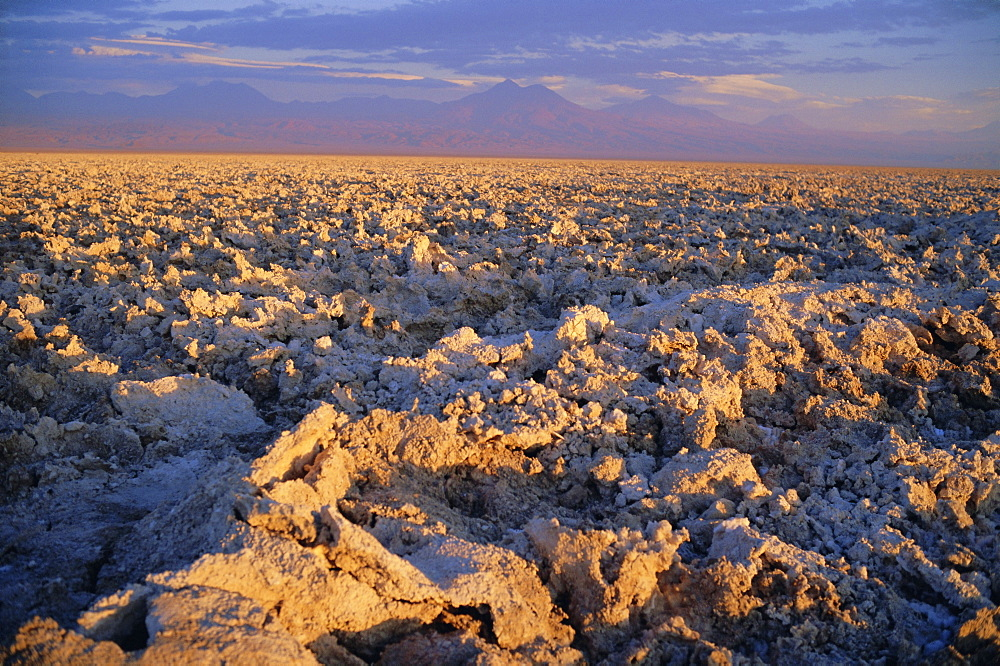 Atacama Salt Flats (Salar de Atacama), Chile, South America *** Local Caption *** The Atacama Salt Flats contain the world's largest reserve of Lithium
