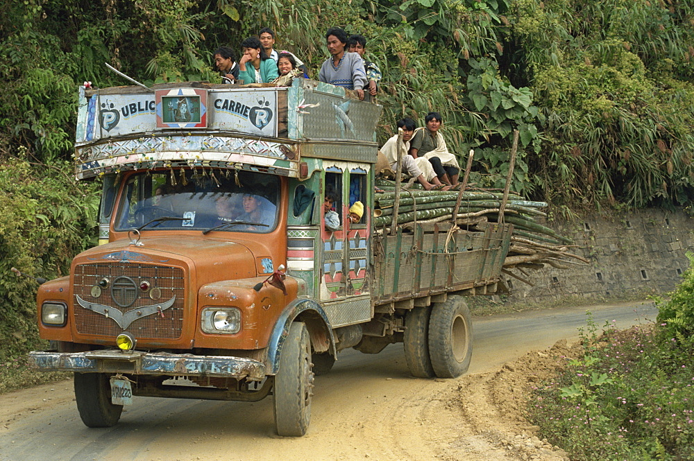 Lorry, Arunachal Pradesh state, India, Asia - 2-20233