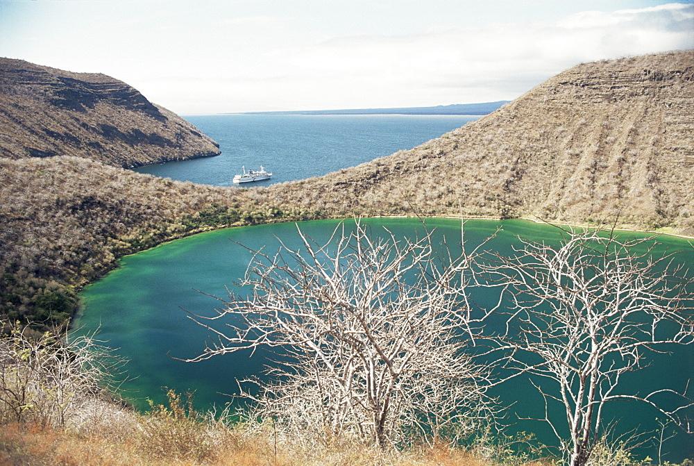 Darwin Crater, Tagus Cove, Isabella (Isla Isabela), Galapagos Islands, Ecuador, South America