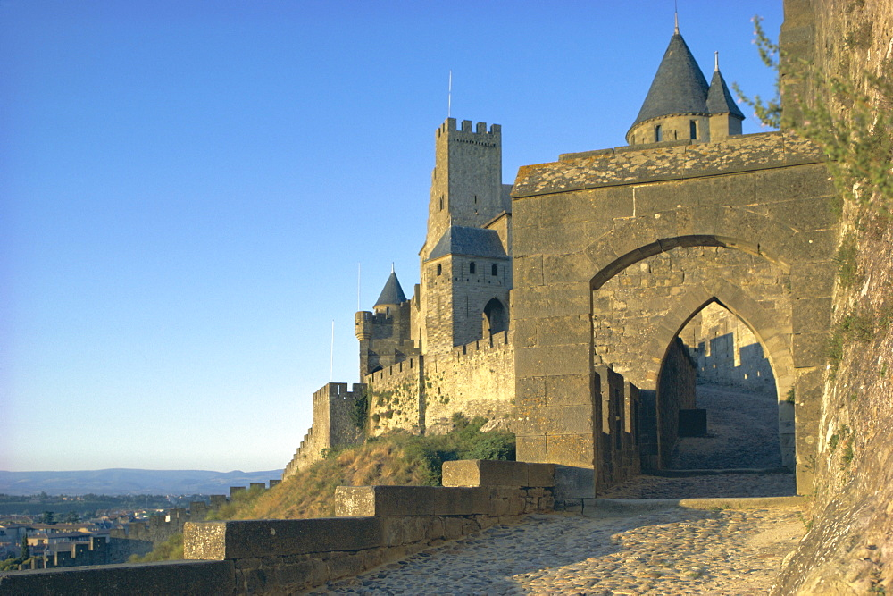 Carcassonne, UNESCO World Heritage Site, Aude, Languedoc-Roussillon, France, Europe