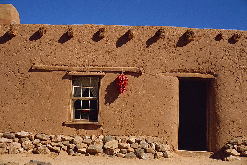 Old adobe house at the Gondrinas Ranch Historic Museum, Santa Fe, New Mexico, United States of America, North America