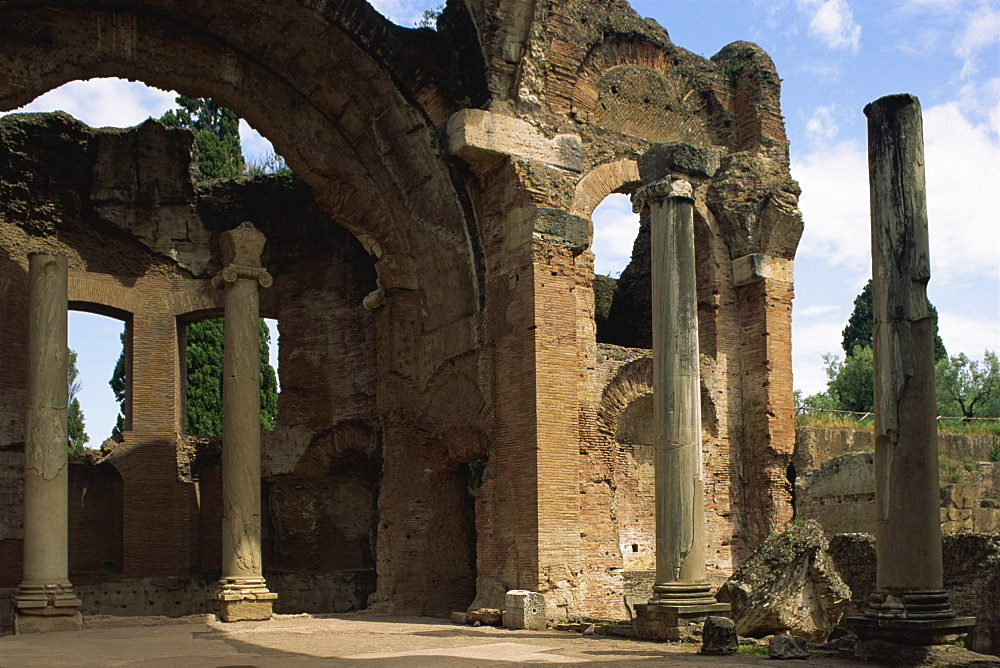 Ruins of the Baths, Hadrian's Villa (Villa Adriana), UNESCO World Heritage Site, Tivoli, Lazio, Italy, Europe