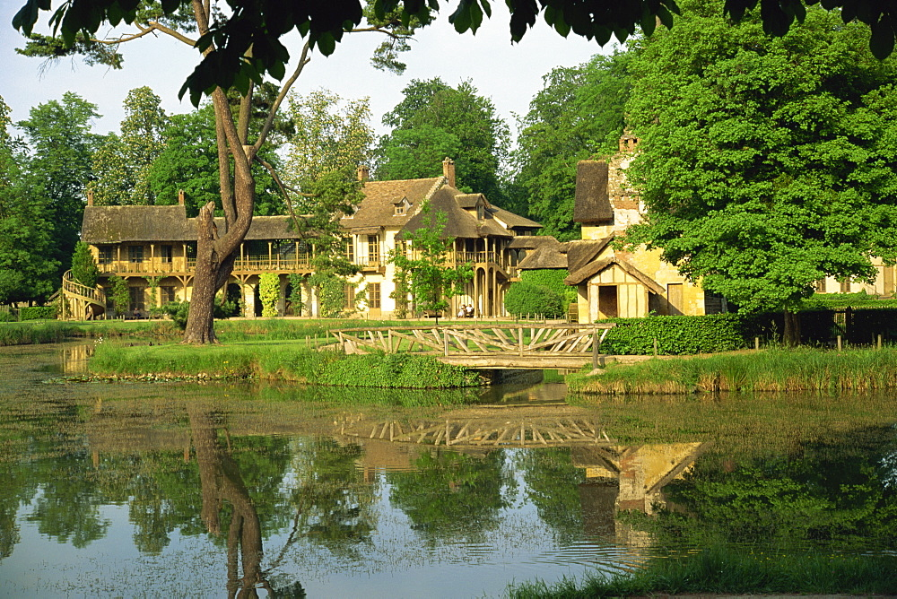 Petit Hameau and Marie Antoinette's House, Versailles, Ile de France, France, Europe
