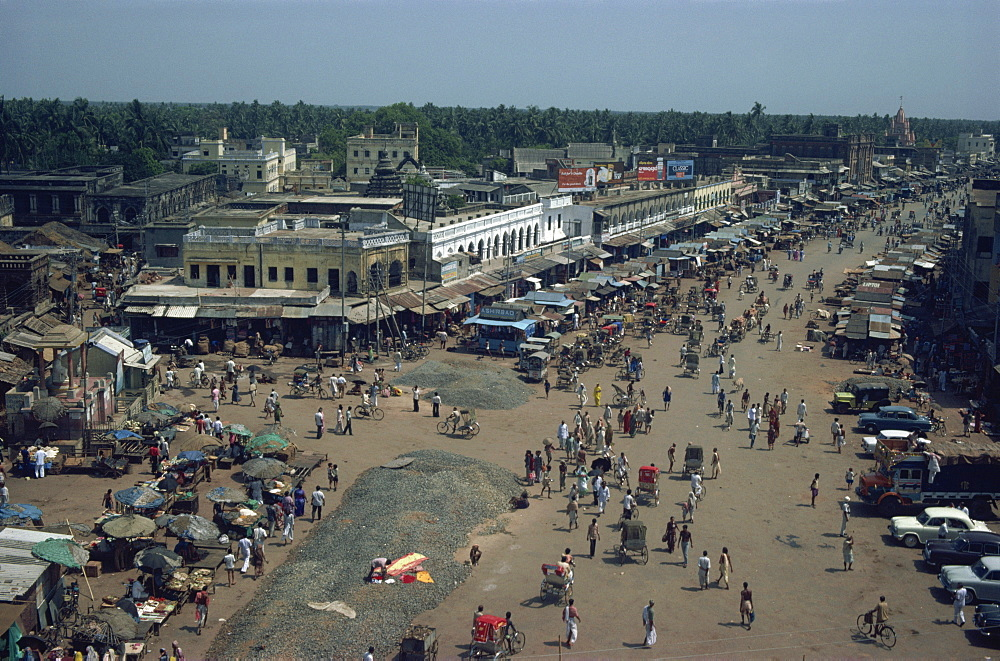 Elevated view taken in 1980 of Puri, Orissa state, India, Asia - 225-192
