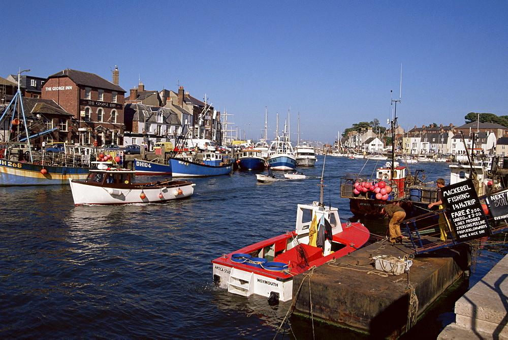 Weymouth harbour, Dorset, England, United Kingdom, Europe - 225-2535