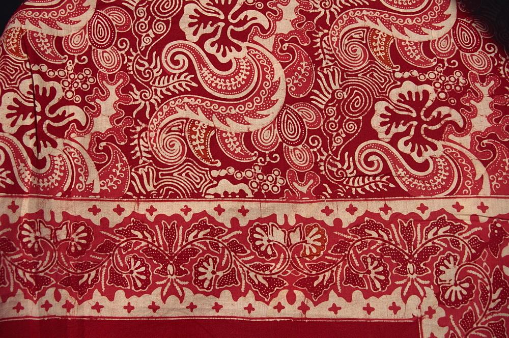 Border of batik cotton cloth, Java, Indonesia, Southeast Asia, Asia - 225-3426