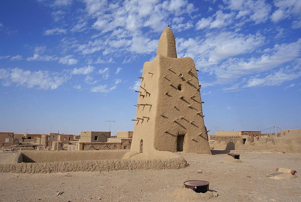 The Djinguereber Mosque, Timbuktu, UNESCO World Heritage Site, Mali, West Africa, Africa - 225-3438