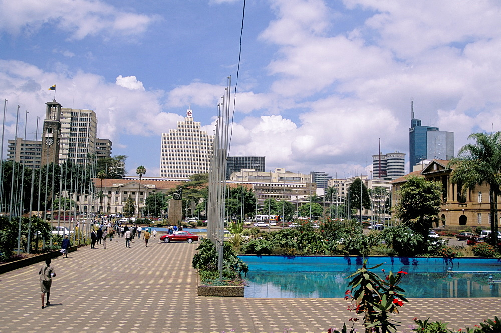 City Square and skyline, Nairobi, Kenya, East Africa, Africa