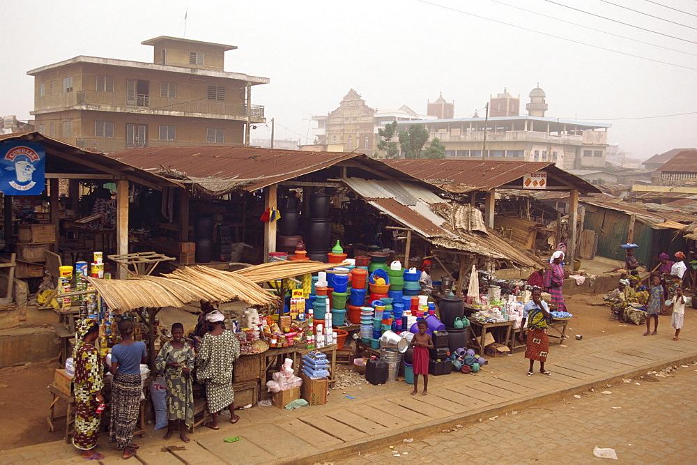 Street scene, Porto Novo, Benin, West Africa, Africa