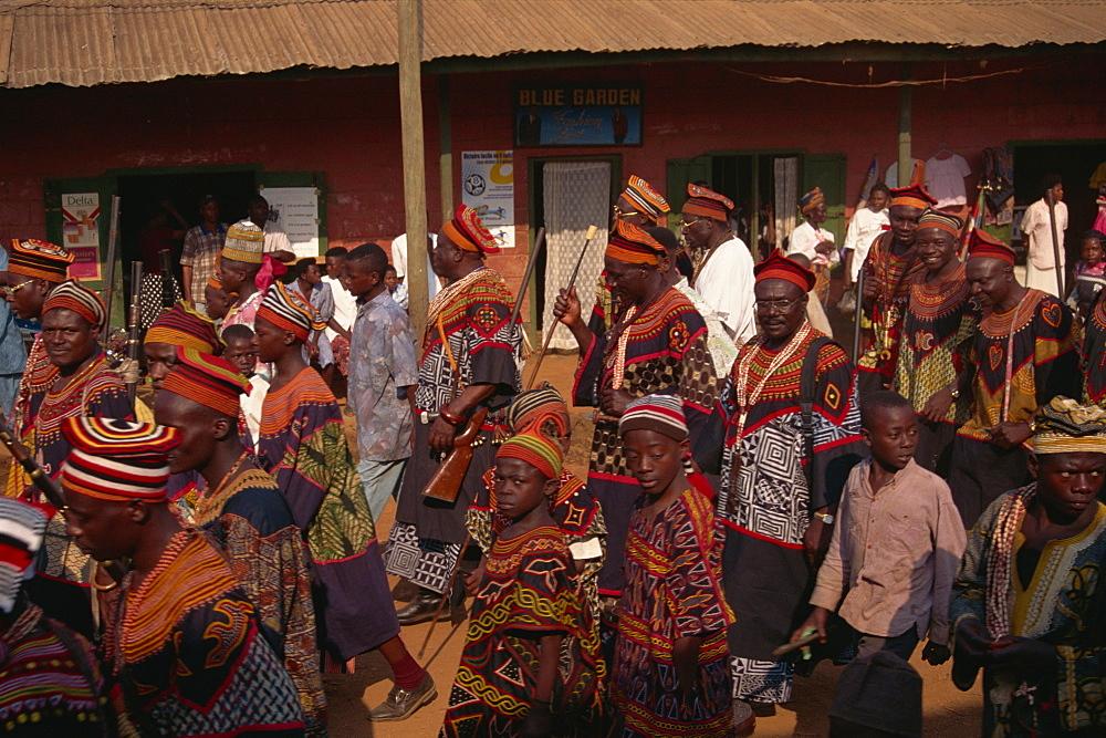December Festival procession, Bali, near Bamenda, Cameroon, West Africa, Africa - 225-3483