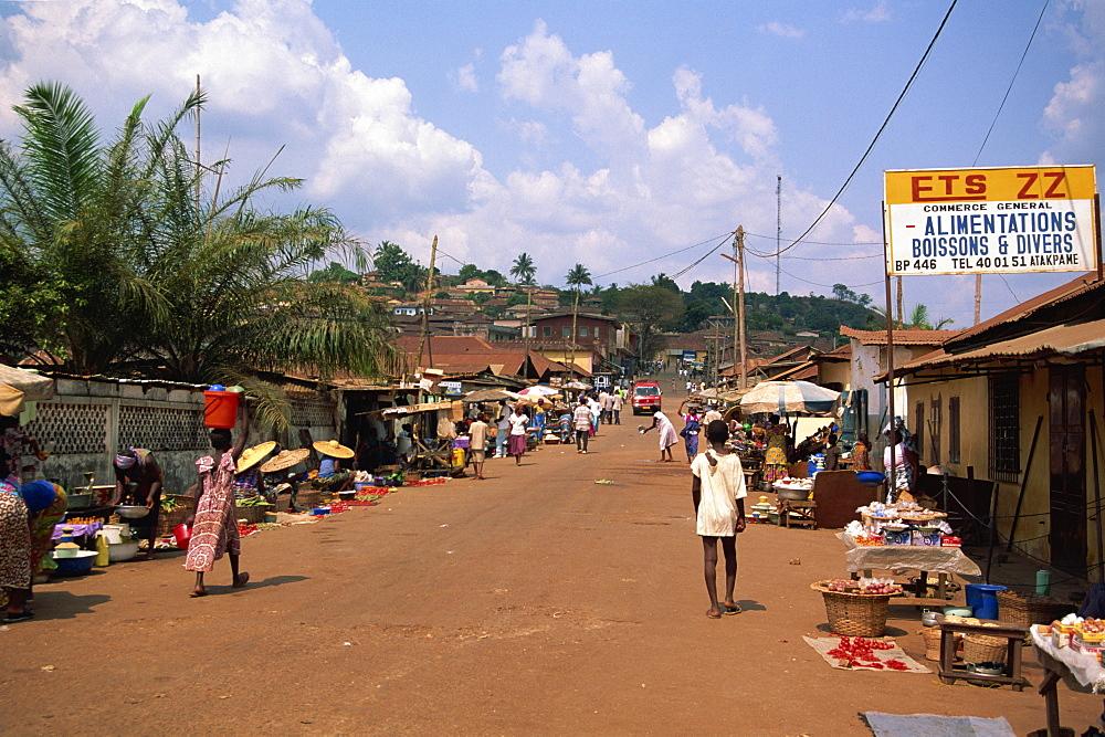Street scene, Atakpame, Togo, West Africa, Africa - 225-3505