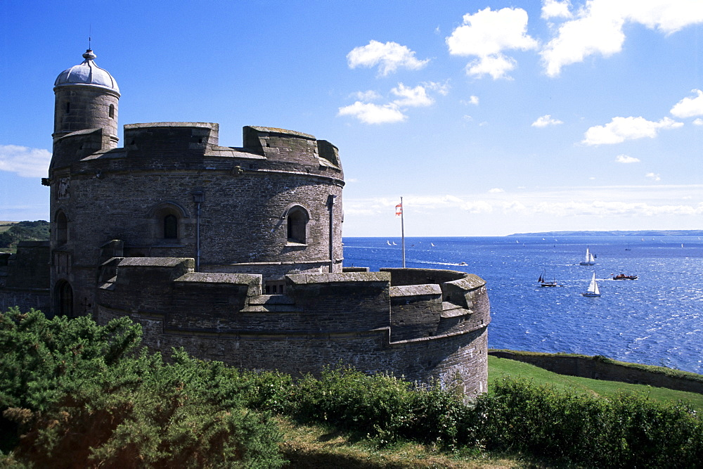 St. Mawes Castle, built by Henry VIII, St. Mawes, Cornwall, England, United Kingdom, Europe