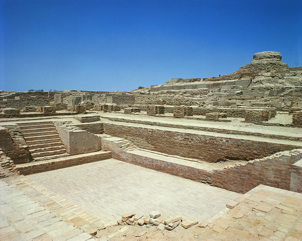 Great Bath, Indus Civilization, Mohenjodaro, UNESCO World Heritage Site, Pakistan, Asia