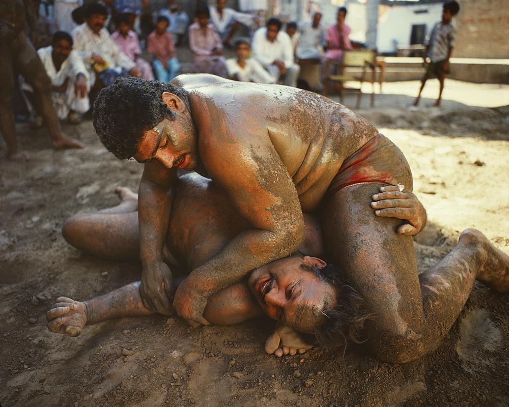 Mud wrestling, Dacca, Bangladesh, Asia