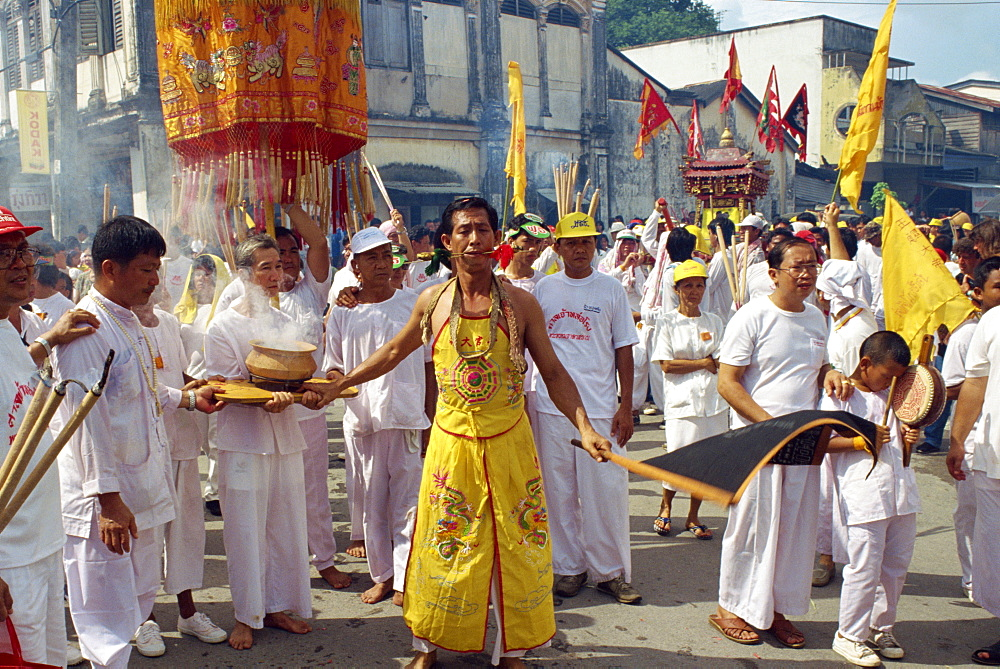 Procession of the Vegetarian Festival, Phuket, Thailand, Southeast Asia, Aisa - 238-3090