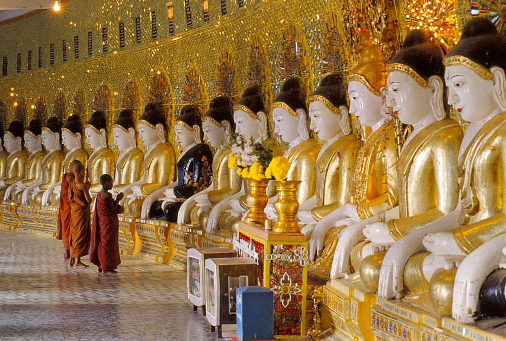 Onhmin Thonza monastery, Sagaing, Myanmar (Burma), Asia - 238-3819