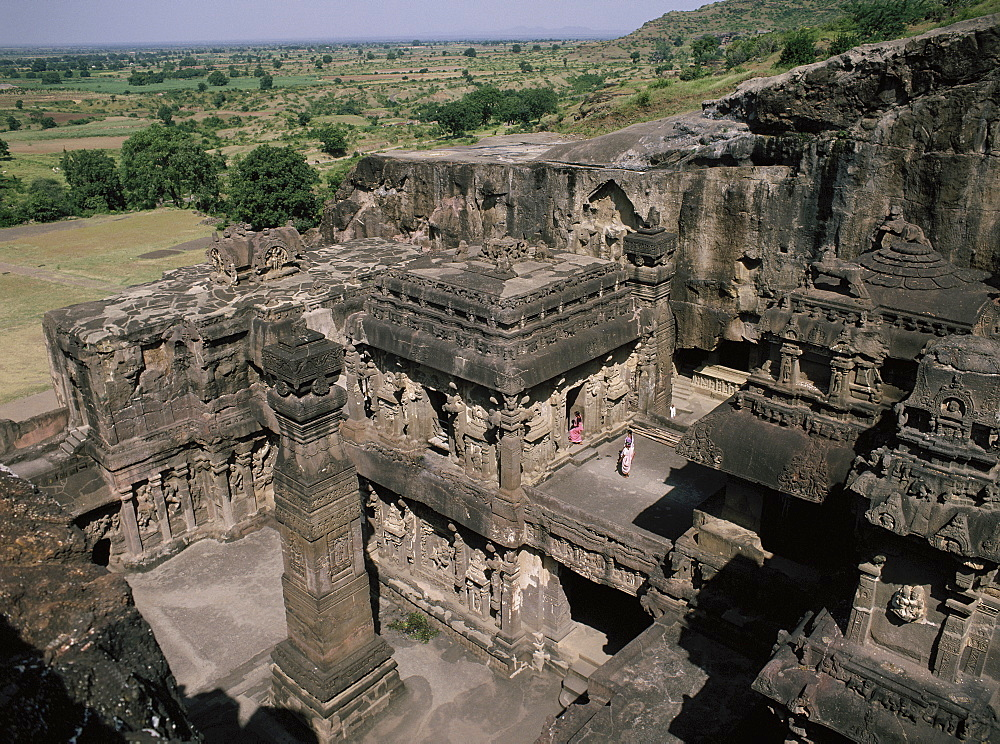 The Kailasanatha Temple, dating from the 8th century, at Ellora, UNESCO World Heritage Site, Maharashtra, India, Asia